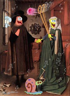 The Arnolfini Wedding: Spongebob Squarepants
