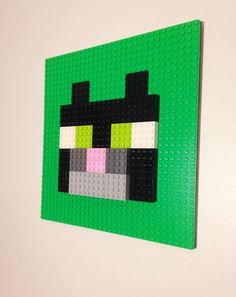 Minecraft Inspired LEGO Wall Art Cat / Tamed Ocelot By HalfTanuki