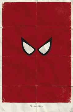 Personagens do universo Marvel em cartazes minimalistas. #Marvel #Minimalist #SpiderMan
