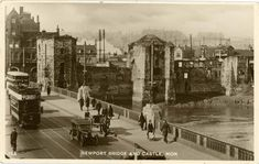 Castle and bridge, Newport street scene Wales Language, Newport Gwent, Newport Bridge, Cardiff, Old Photos, Old And New, Past, Father, Scene