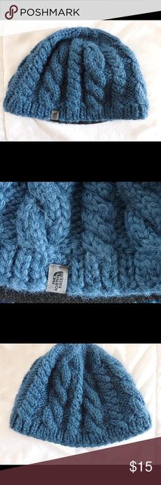 The North Face Cable Minna Beanie Authentic, worn once, perfect condition, blue knitted beanie cap The North Face Accessories Hats
