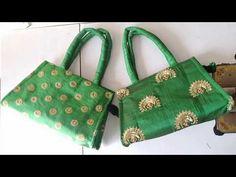 Fabric Handbags, Fabric Bags, Handmade Purses, Handmade Handbags, Flower Embroidery Designs, Diy Embroidery, Diy Bag Designs, Diy Bags Purses, Sew Bags
