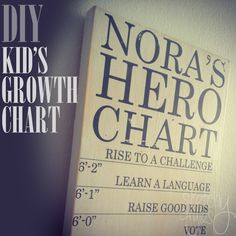 Learn how to make your own custom growth chart and give your child a map for becoming their own superhero! Tutorial includes step-by-step instructions and a free printable template. Project by sketchystyles.com #DIY