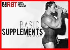 Basic Supplementation 101  http://www.resultbasedtraining.com.au  #fitness
