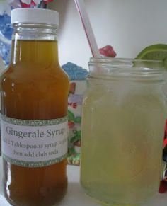M.Y.O. Gingerale Syrup. makes Gingerale or Ginger Tea for nasuea. Would make a great gift for friend who was going through morning sickness, chemo treatments or has the flu. Or make a batch along with limeade syrup and lemonade syrup for a great gift basket.