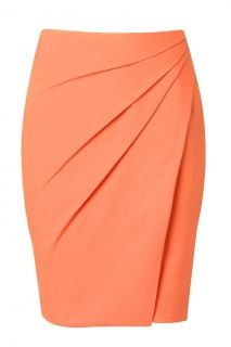 Argentine skirt in coral by SheikeTaupe Pencil Skirt with Pleate Skirt Outfits, Dress Skirt, Work Attire, Mode Style, African Dress, African Fashion, Red Fashion, Dress Patterns, Dress To Impress