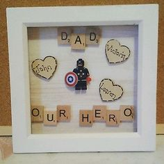Fathers day personalised gift present superhero dad daddy grandad grampy
