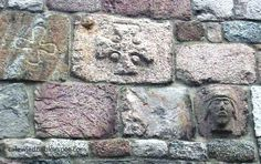 The mysterious carvings on the outer walls of the church of the Virgin in Inowrocław, Poland.