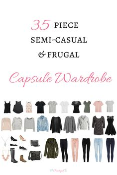 "Take a peak at the items in my spring capsule wardrobe for 2018, and even shop for the same or similar items. A capsule wardrobe is a smaller, pared down wardrobe of only items you absolutely love and are versatile, timeless, and of high quality, allowing you to create many outfits with fewer items! Click through to article to see an example of a spring capsule wardrobe and get a FREE e-book, ""How to Create a Capsule Wardrobe That Works For You""."