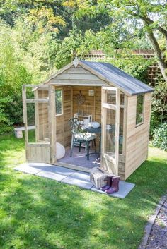 The Hartwood x Sutton Summer House is a traditional and compact ga. The Hartwood 7 Small Summer House, Summer Houses Uk, Summer House Garden, Apex Roof, Forest Garden, She Sheds, Garden Buildings, Outdoor Buildings, Ideas