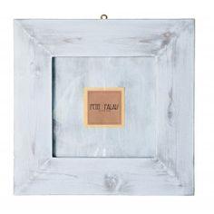 Cornice portafoto in legno grigio shabby