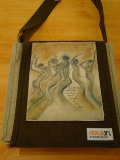 One of my most popular Poetic Art pieces featured on a natural and chocolate coloured jute bag.