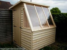Lean To Greenhouse, Backyard Greenhouse, Greenhouse Ideas, Diy Small Greenhouse, Greenhouse Shed Combo, Shed Design, Garden Design, Wooden Greenhouses, Small Sheds