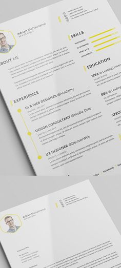 Free Minimalistic CV/Resume Templates with Cover Letter Template - 6