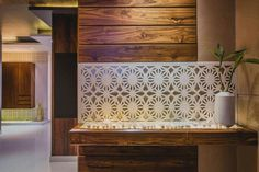 Design by Shalini Pereira Foyer Design, Entrance Design, Wall Design, Flat Interior, Home Interior Design, Interior Decorating, Interior Ideas, Entrance Foyer, Entrance Ideas