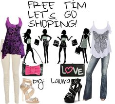 """""""Free time, Let's go shoping!"""" by laurateder on Polyvore"""