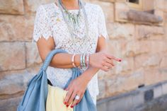 Love the bangles & bag :: Fox In Flats