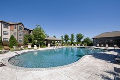 Our gorgeous pool is the perfect place to cool off on a warm Huntsville, Alabama day. Take a dip, get some sun on the expansive aqua deck, or just enjoy spending time with your friends!