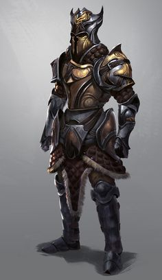 Warrior Armor Design 3 by Boris Nikolic on ArtStation. Armadura Medieval, Medieval Armor, Medieval Fantasy, Dnd Characters, Fantasy Characters, Armor Concept, Concept Art, Fantasy Inspiration, Character Inspiration