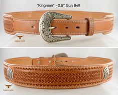 Longhorn Leather AZ - Gun Belt featuring the design. 1911 Holster, Gun Holster, Vertical Shoulder Holster, Cross Draw Holster, Custom Leather Holsters, Western Holsters, Cowboy Action Shooting, Rifle Sling, Custom Guns