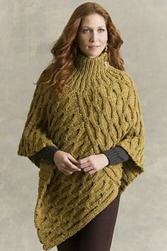 Welty poncho from Ravelry
