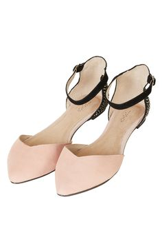 Topshop. MARNIE 2 Part Pointed Flats. Nude Flats, Studded Heels, Pointed  Flats b8c3b57135b7