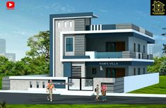 Best 30 Front Elevation designs For 2 Floor House House Outer Design, House Balcony Design, Village House Design, Kerala House Design, Bungalow House Design, House Front Design, Small House Design, Best Modern House Design, Modern Exterior House Designs
