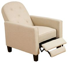 Miller Beige Fabric Recliner Chair modern chairs