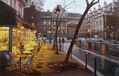 L'artiste Thierry Duval - Nuit d'automne sur le Palais de Justice