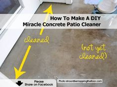 Merveilleux How To Make A DIY Miracle Concrete Patio Cleaner   Http://www.