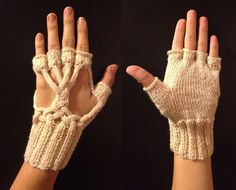 White Tree of Gondor Gloves by Natalia of Elfmoda