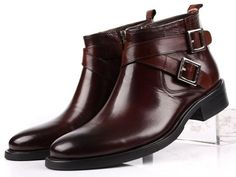 shoes shoes on sale at reasonable prices, buy GRIMENTIN men boots genuine leather double buckle black brown male ankle boots shoes from mobile site on Aliexpress Now! Mens Ankle Boots, Buckle Ankle Boots, Mens Shoes Boots, Brown Ankle Boots, Leather Boots, Shoe Boots, Cow Leather, Bonded Leather, Cowhide Leather