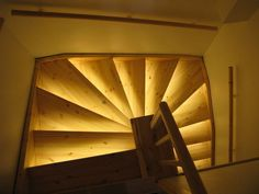 Light makes the difference. These are just plain stairs from pine but when led lights was installed even pine looks good…