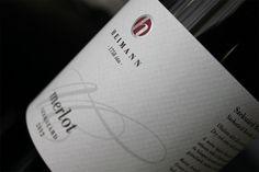 Heimann Merlot 2012, wine label design