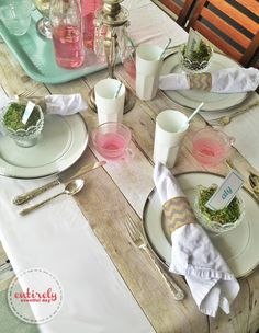 Summer Tablescape ~ Entirely Eventful Day