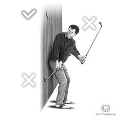 This backswing drill will help you get a feel for your swing path and whether you're swinging the club on too flat or too steep a plane. Golf Backswing, Clover Green, Perfect Golf, Golf Training, Golf Tips, Plane, Paths, Drill, Bring It On
