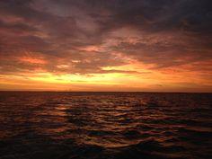 Beautiful Orange Pumpkin Halloween Sunrise Over Pine Island, 10-31-13, Sanibel, Captiva & Fort Myers Fishing Charter & Sanibel, Captiva Fort...