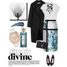 Bibhu Mohapatra skirt by lera-chyzh on Polyvore featuring Marni, Bibhu Mohapatra, Christian Dior, Yves Saint Laurent, Aéropostale, Frankie Morello and Bulgari