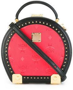 MCM round studded shoulder bag