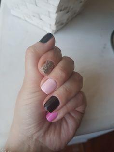 Pink ,good and black  nails
