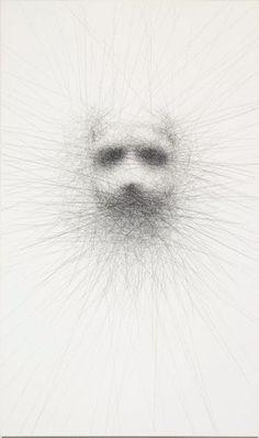 Vernon Ah Kee(Australia 1967 – ) Unwritten #9, 2008 charcoal on canvas