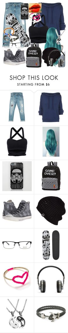 """""""Riley Arroyo OC"""" by carmen-41-navarro ❤ liked on Polyvore featuring Sans Souci, Free People, Vans, Converse, UGG Australia, GUESS, Blind, Jordan Askill, Master & Dynamic and Nialaya"""