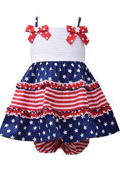 c68521c825 Ella Blu Store - Bonnie Jean Baby Girl s 4th of July Stars and Stripes Dress  0