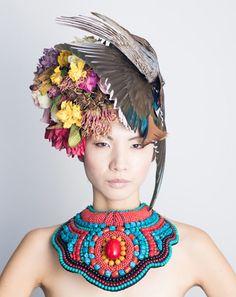 Botanical Headdresses by Takaya-3