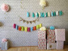 BABY Decoration, Garland, burlap banner, Rustic pendants, Gender Reveal Decor, Photo Props