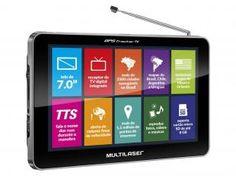 "GPS Automotivo Multilaser Tracker TV - Tela 7"" Touch TV Digital 2500 Cidades Navegáveis"