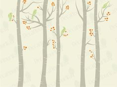 Items similar to Wall Birch Tree Decals Birch Forest Stickers Removable Large Decal Trees Nursery Wall Art Bird Mural Vinyl Home Decor Bedroom Living Room on Etsy Mural Painting, Diy Painting, Baby Room Decor, Baby Rooms, Kids Rooms, Wall Art Decor, Wall Murals, Woodland Room, Removable Vinyl Wall Decals