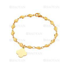 pulsera con cruz de dorado en acero para mujer-SSBTG1094341