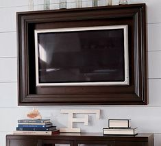 framing a flat screen tv | Love It or Leave It? Hardwood Flat-Panel TV Frame