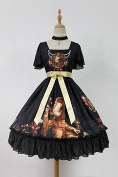---> #LolitaUpdate: Neverland Lolita [-⌚♫♫-The Song of Time-⌚♫♫-] OP ---> [-✂-Custom Size Available-✂-] ---> Learn More about the OP: http://www.my-lolita-dress.com/neverland-lolita-the-song-of-time-lolita-normal-lolita-op-dress-gc-222